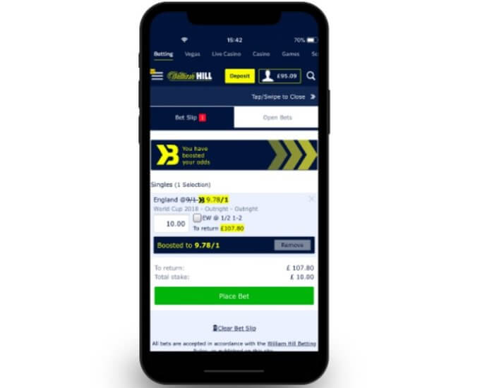 William Hill iOS y Android
